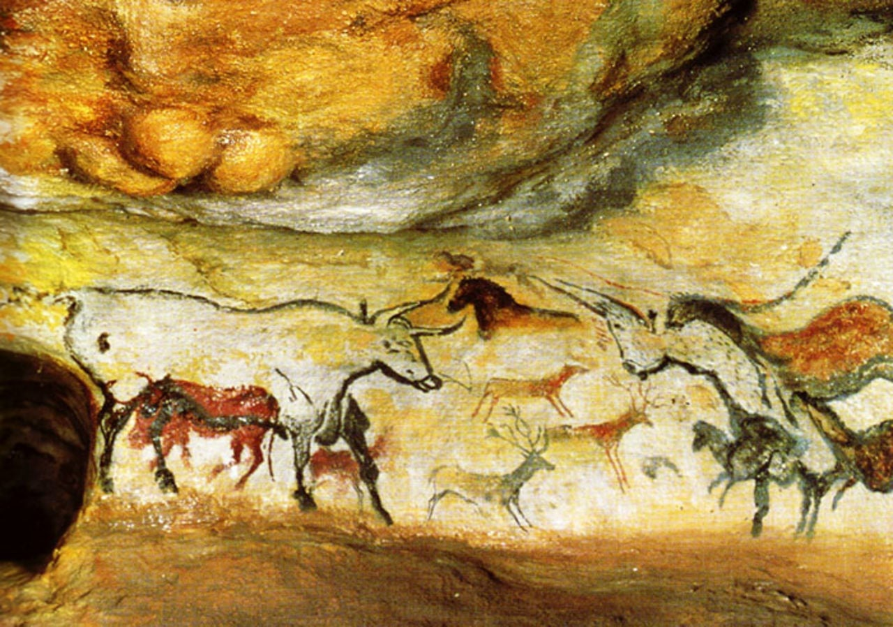 Painted caves at  Lascaux - 5K
